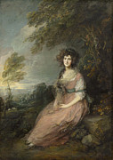Full-length Portrait Painting Prints - Mrs Richard Brinsley Sheridan Print by Thomas Gainsborough