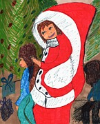 Claus Mixed Media Posters - Mrs. Santa Claus Poster by Elinor Rakowski