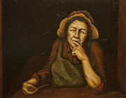 Character Portraits Paintings - Mrs. Zackaharia by C Michael French