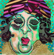 Diane Fine Mixed Media Prints - Mrs.Eisenberg Print by Diane Fine