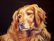 Golden Retriever Art Pastels Prints - Mr.Wilson Werth-Johnson Print by Mindy Sue Werth