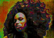 Girl Digital Art Originals - Ms Alt-titude by Byron Fli Walker