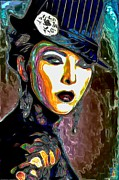 Purple Digital Art Originals - Ms Boss Lady by Byron Fli Walker