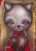 Big Eyes Art - Ms. Cat by  Abril Andrade Griffith