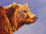 Brown Bear Paintings - Ms. Grizz by Theresa Paden