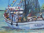 Shrimp Painting Originals - Ms. Shirley Mae by Sharon Sorrels