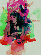 Film Mixed Media Prints - Ms Wallace Print by Irina  March