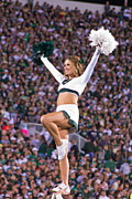 Msu Prints - MSU Cheerleader  Print by John McGraw