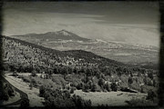 Mt Abrams In Black And White Print by Janice Rae Pariza