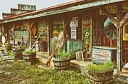 Decorating Mixed Media Metal Prints - Mt. Airy Old Country Store II Metal Print by Dan Carmichael