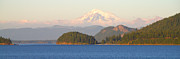 Puget Sound Photographs Framed Prints - Mt Baker Framed Print by Brian Harig