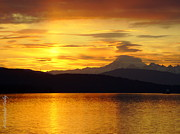 Christopher Fridley Art - Mt Baker Sunrise by Christopher Fridley