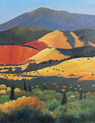 Tuscan Sunset Painting Metal Prints - Mt. Diablo 1 Metal Print by Gary Coleman
