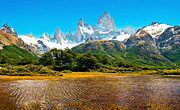 Fitz Art - Mt Fitz Roy in Patagonia by JR Photography
