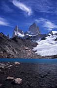 Turquoise Mountain Lake Prints - Mt Fitzroy and Laguna de los Tres Print by James Brunker