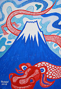 Taikan Nishimoto - Mt. Fuji and A Red Dragon