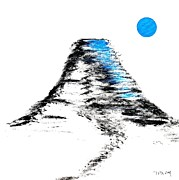 Artist Cube Originals - Mt Fuji Blue moon by Gordon Lavender
