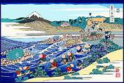 Marian Cates Metal Prints - Mt. Fuji by Katsushik Hokusai Metal Print by Marian Cates