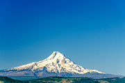 Mt Hood National Forest Prints - Mt. Hood and Blue Sky Print by Jess Kraft