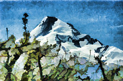 Mt Hood Digital Art - Mt Hood in Spring by Steve Bailey