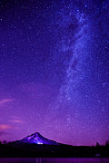 Constellations Posters - Mt. Hood Milky Way 01 Poster by Lori Grimmett