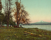 Antique Digital Art Prints - Mt. Hood Oregon Print by Gary Grayson