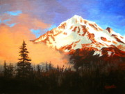 Serenity Landscapes Paintings - MT.  HOOD Oregon  by Shasta Eone