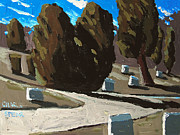 Cemetery Painting Posters - Mt Hope Poster by Charlie Spear