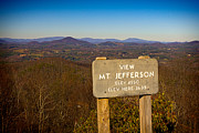 Ble Sky Posters - Mt Jefferson View Poster by Les Palenik