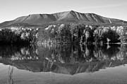 Mt. Katahdin Framed Prints - Mt Katahdin Black and White Framed Print by Glenn Gordon