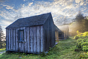 Rustic Scene Prints - Mt LeConte Cabins Print by Debra and Dave Vanderlaan