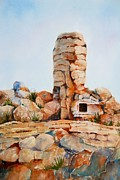 Mountain Climbing Paintings - Mt Lemmon Tucson AZ by Marilyn  Clement