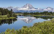 Moran Prints - Mt. Moran Reflection - Grand Teton National Park Print by Sandra Bronstein