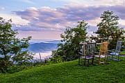 Rocking Chairs Framed Prints - Mt Pisgah After the Rain Framed Print by John Haldane
