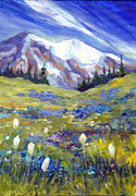 Mountain Scenes Posters - Mt. Rainier I Poster by Peggy Wilson