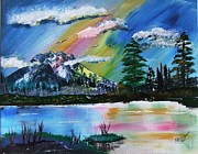Seattle Paintings - Mt. Rainier by Topher Essex