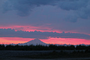 Alaska Prints Photos - Mt. Redoubt Sunset by Chris Lindner