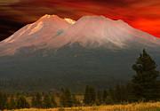 Randall Branham - Mt Shasta Fire on the Mountain
