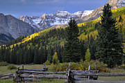 Split Rail Fence Prints - Mt. Sneffels Range Print by Frank Burhenn