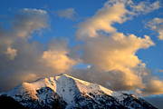 Snow-covered Landscape Photo Prints - Mt. Sopris Sunset 2 Print by Ray Mathis