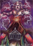 Temple Pastels - Mt. Vesuvius - Jupiters Fury by Samantha Geernaert