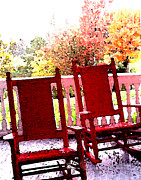 Rocking Chairs Originals - Mt Washington Rockers by Michael Vinyard