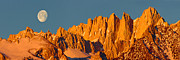 Sierras Prints - Mt. Whitney Moon Print by Don Hall