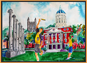 Student Union Framed Prints - MU - on the Quad Framed Print by Dennis Weiser