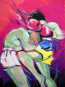 Kickboxing Framed Prints - Muay thai Framed Print by Lucia Hoogervorst