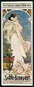 Posters Of Women Photo Framed Prints - Mucha, Alphonse Maria 1860-1939 Framed Print by Everett