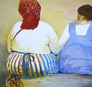 Talking Painting Framed Prints - Muchachas Framed Print by Kris Parins