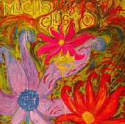 Dancing Girl Paintings - Mucho Gusto by Guillermina Galvan