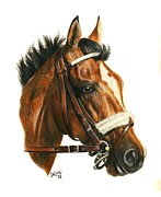 Thoroughbred Race Paintings - Mucho Macho Man by Pat DeLong
