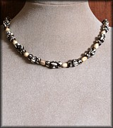 Gemstone Jewelry Prints - MudBone Tribal Print by Jan  Brieger-Scranton